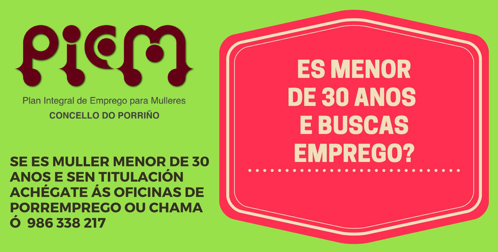 O Concello impulsa o Plan Integrado de Emprego para Mulleres (PIEM), dirixido a 85 veciñas menores de 30 anos e sen cualificación profesional, de cara a súa volta ao mercado de traballo ou a súa inserción laboral