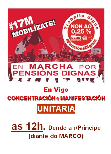 O Concello pon autobuses ás veciñas e veciños do Porriño que quieran acudir en Vigo á manifestación en Defensa das Pensións