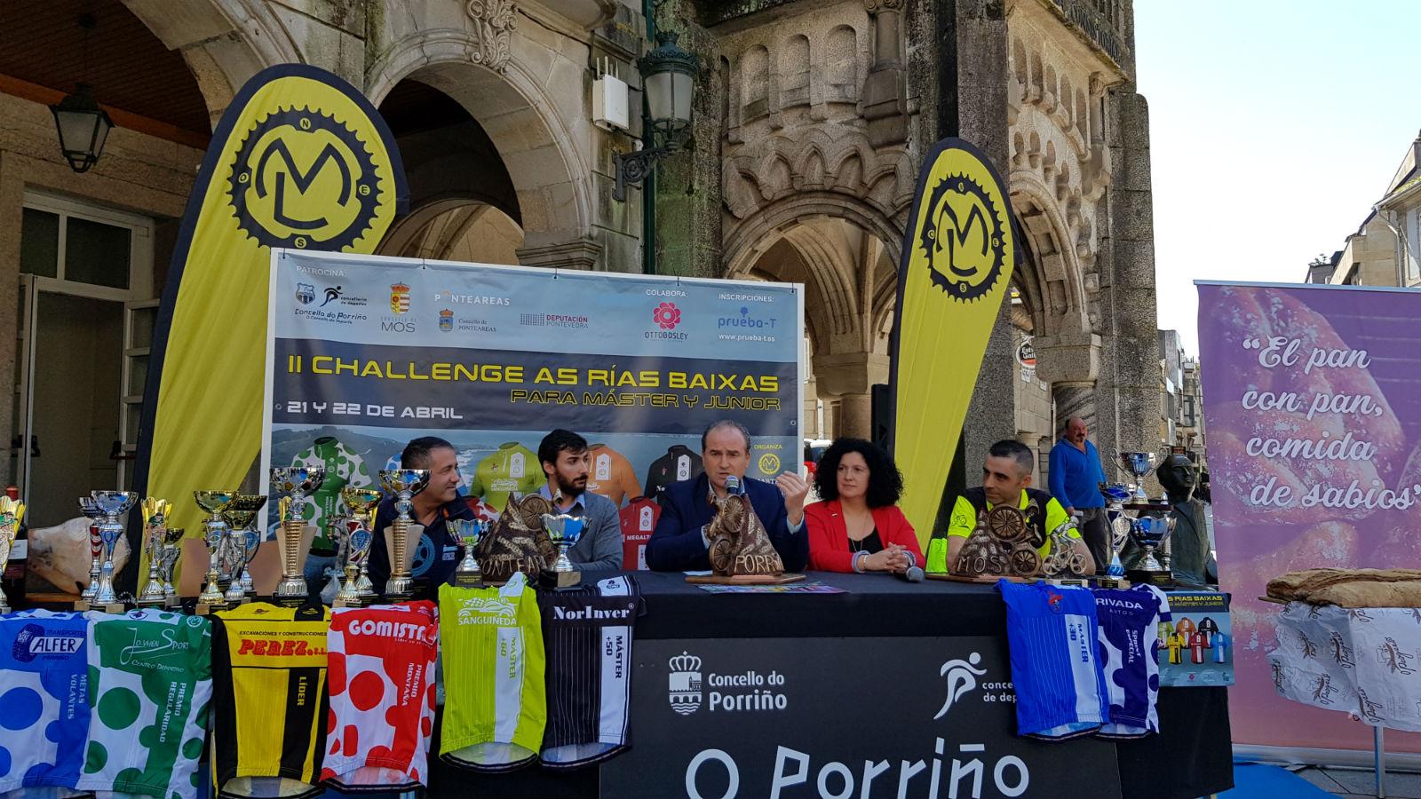 200 ciclistas participarán esta fin de semana na II Challenge As Rías Baixas de ciclismo que percorrerá os concellos de Mos, Ponteareas e O Porriño