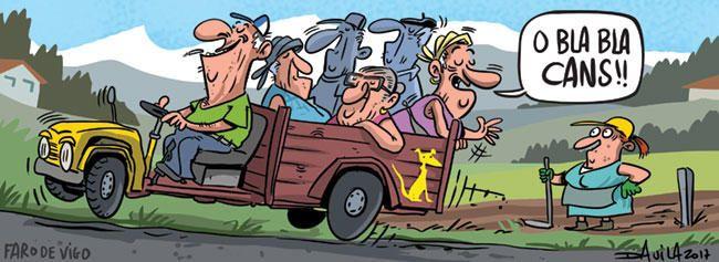 @festivaldecans abre o venres día 25 unha retrospectiva das viñetas de @OBichero