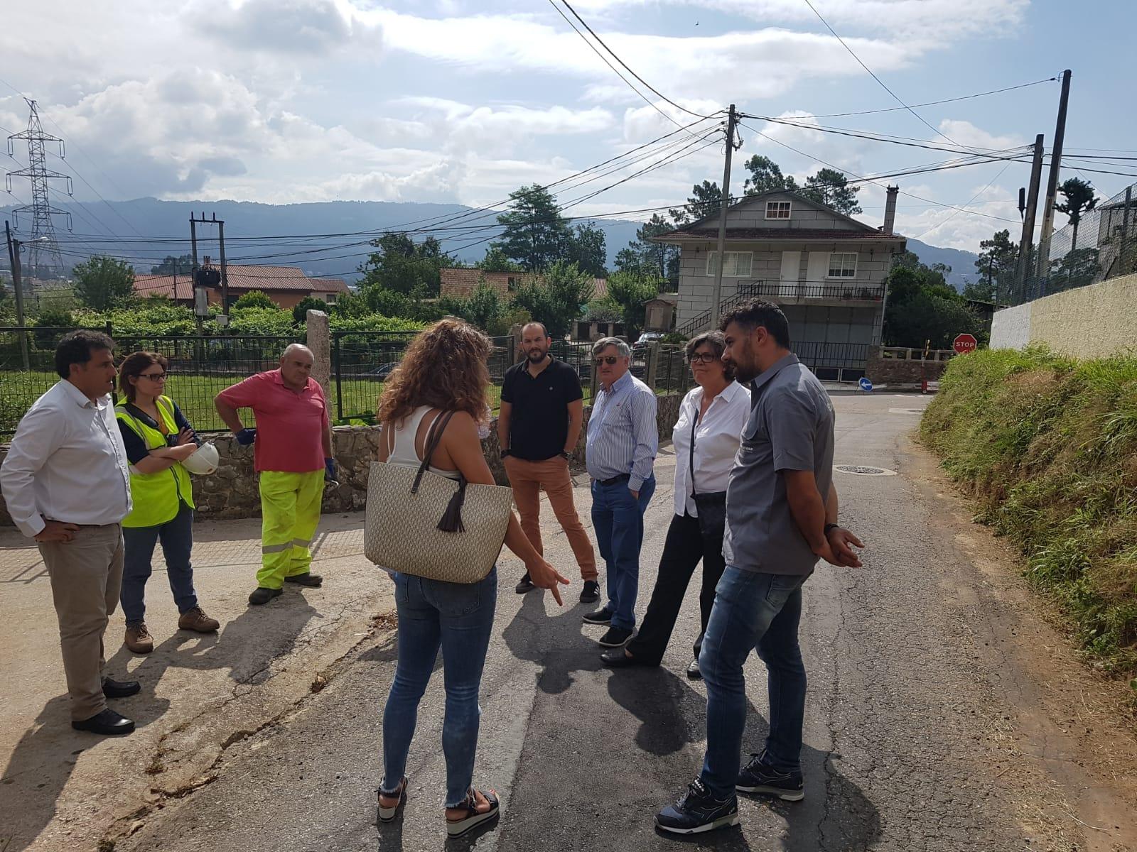 A alcaldesa visita as obras do Contrasto e o luns día 9, na Asociación de Veciños San Salvador de Torneiros, informará polo miúdo do que se ten feito na zona e do que se fará nas vindeiras semanas