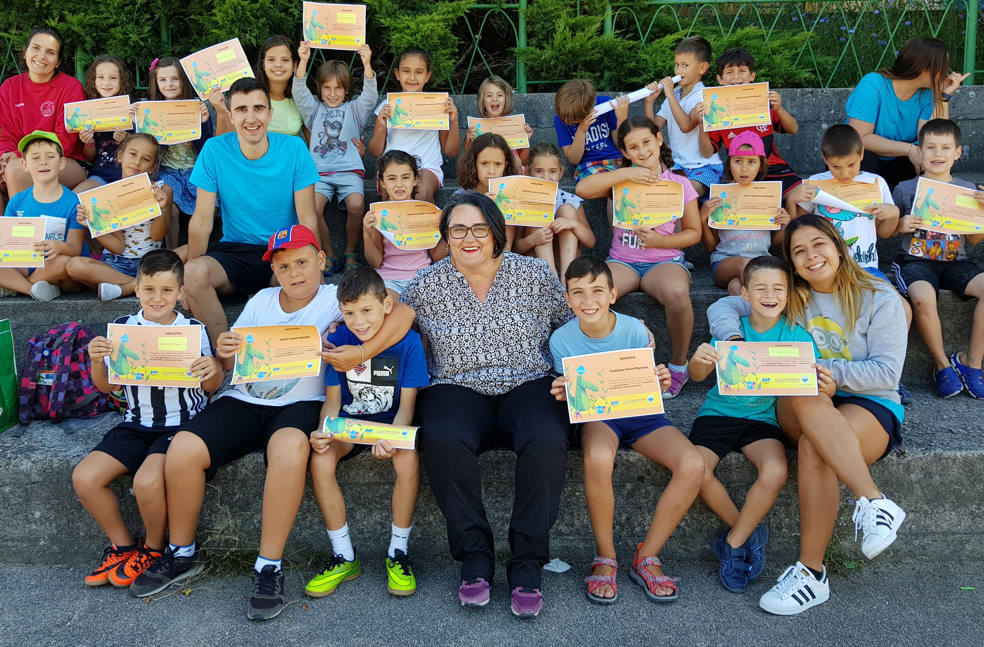 A concelleira de Igualdade e Benestar pecha os Campamentos de Verán, que este ano estiveron subvencionados pola Deputación de Pontevedra e nos que participaron 240 nenas e nenos do Porriño