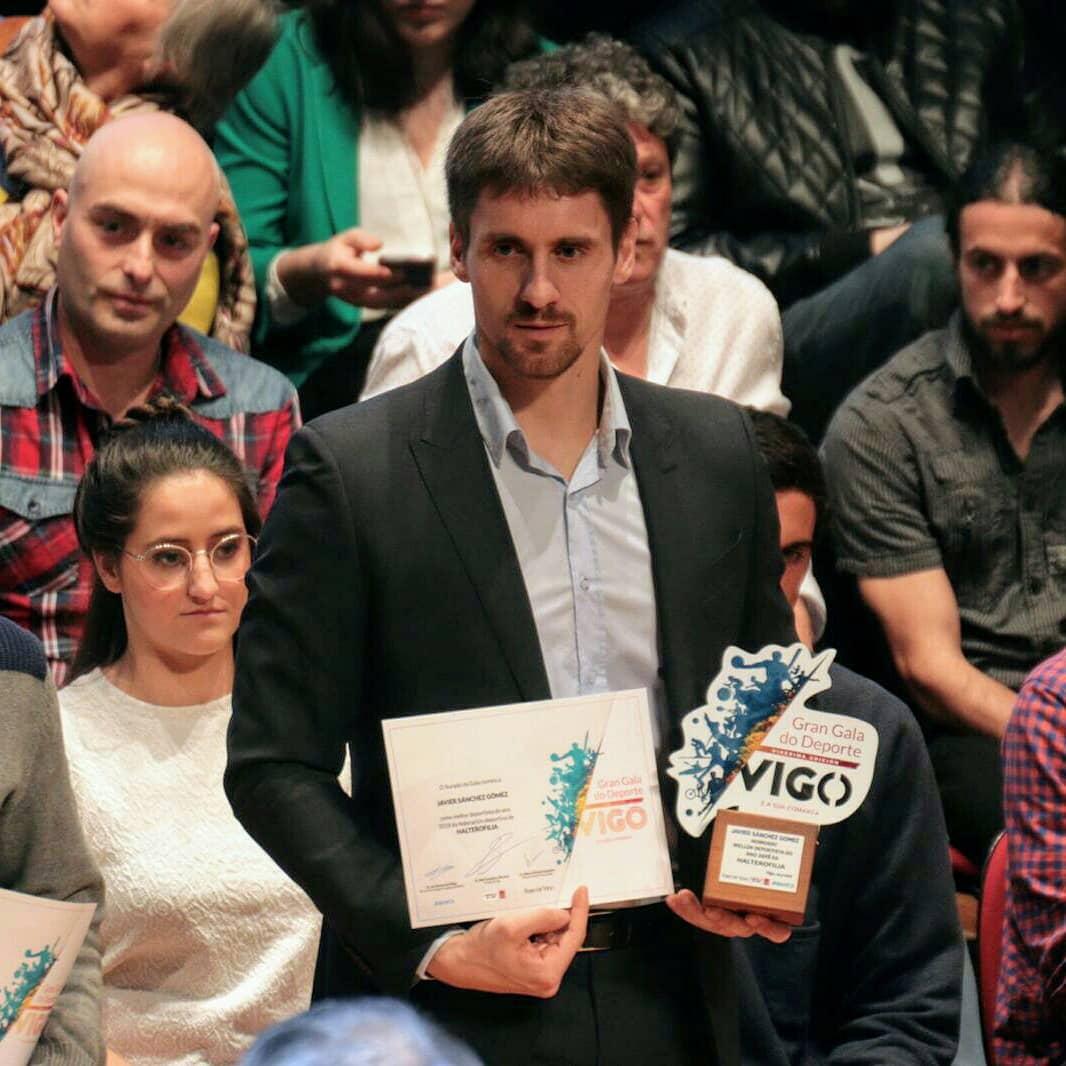 Dous deportistas porriñeses Carla Guisande e Javito Sánchez, premiados na Gran gala do deporte de Vigo e Comarca