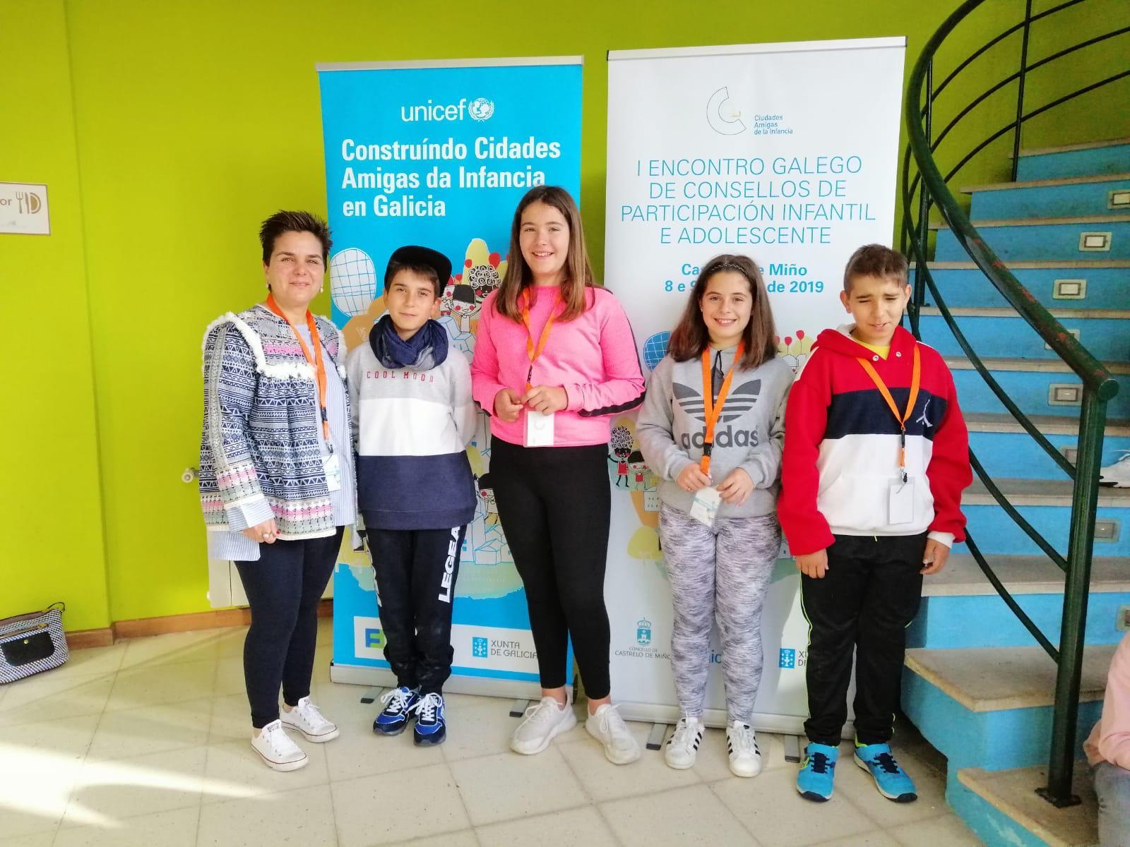 A delegación de Porriño tivo unha actuación sobranceira no I Encontro de Participación Infantil e da Adolescencia de Galicia