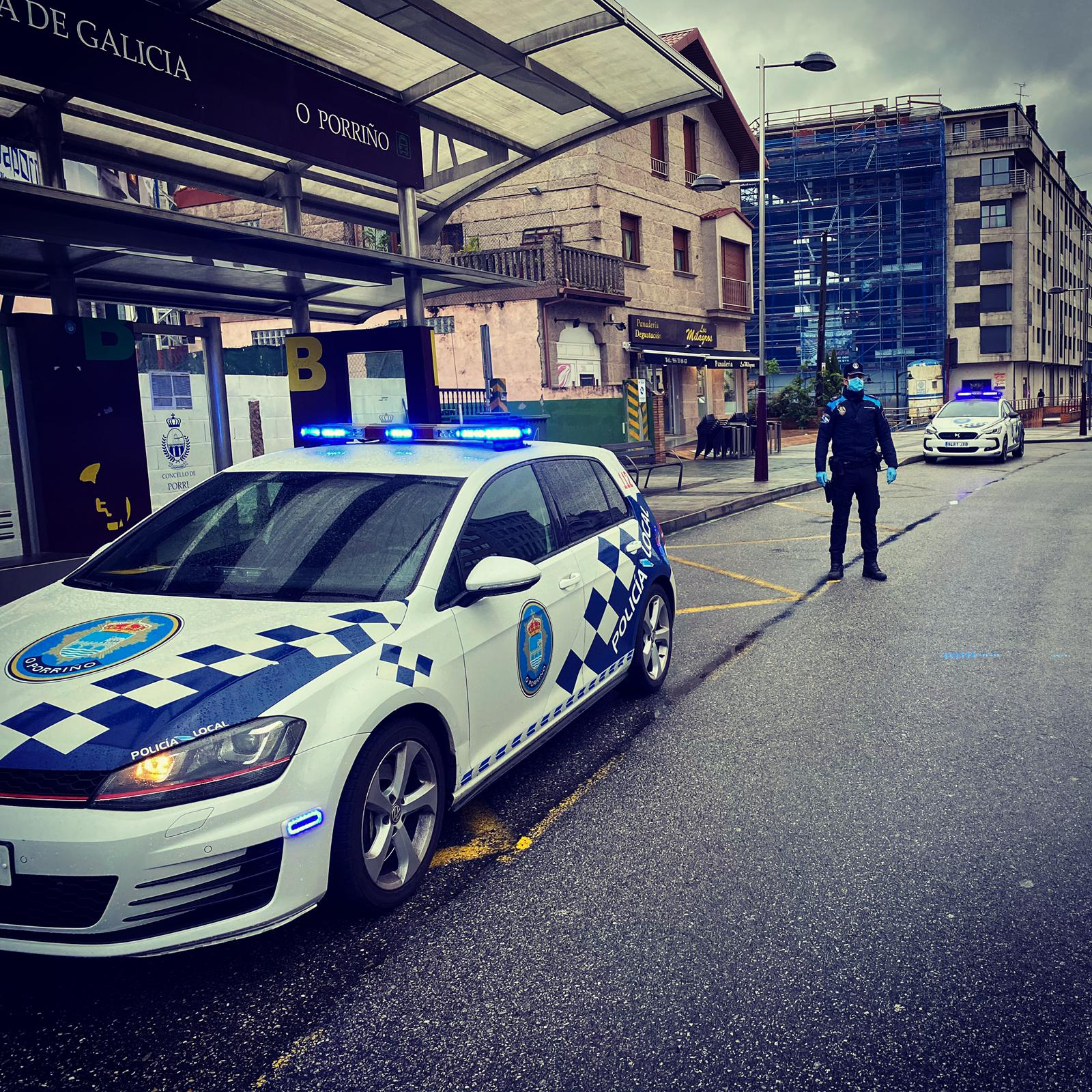 As denuncias da Policía Local por incumprimento do estado de alarma no Porriño, ascenden a 193