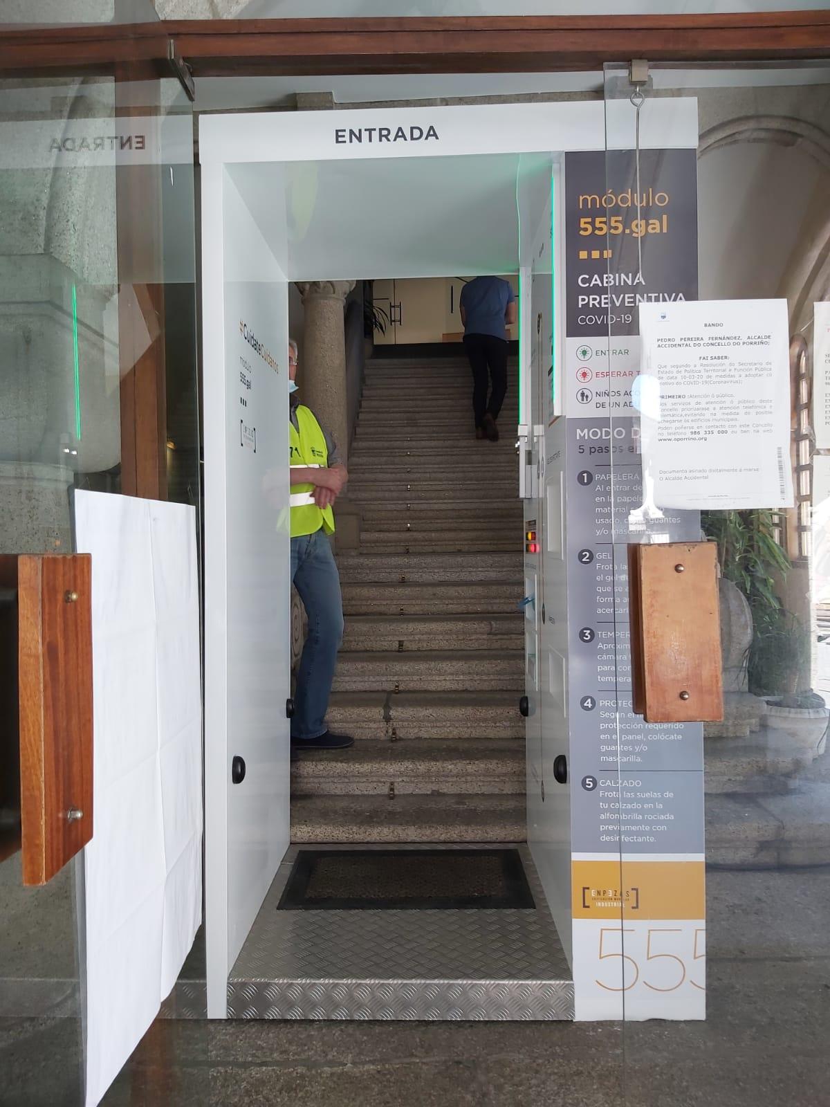 O Porriño en fase 2: medidas de control no acceso ao Concello e reincorporación do persoal nos departamentos municipais