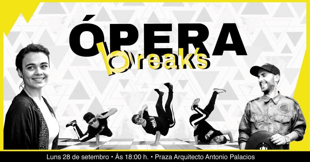 """As Festas do Cristo ofrecen o espectáculo """"Ópera Break's"""" coa mestura das actuacións da soprano Esperanza Mara e artistas urbanos"""