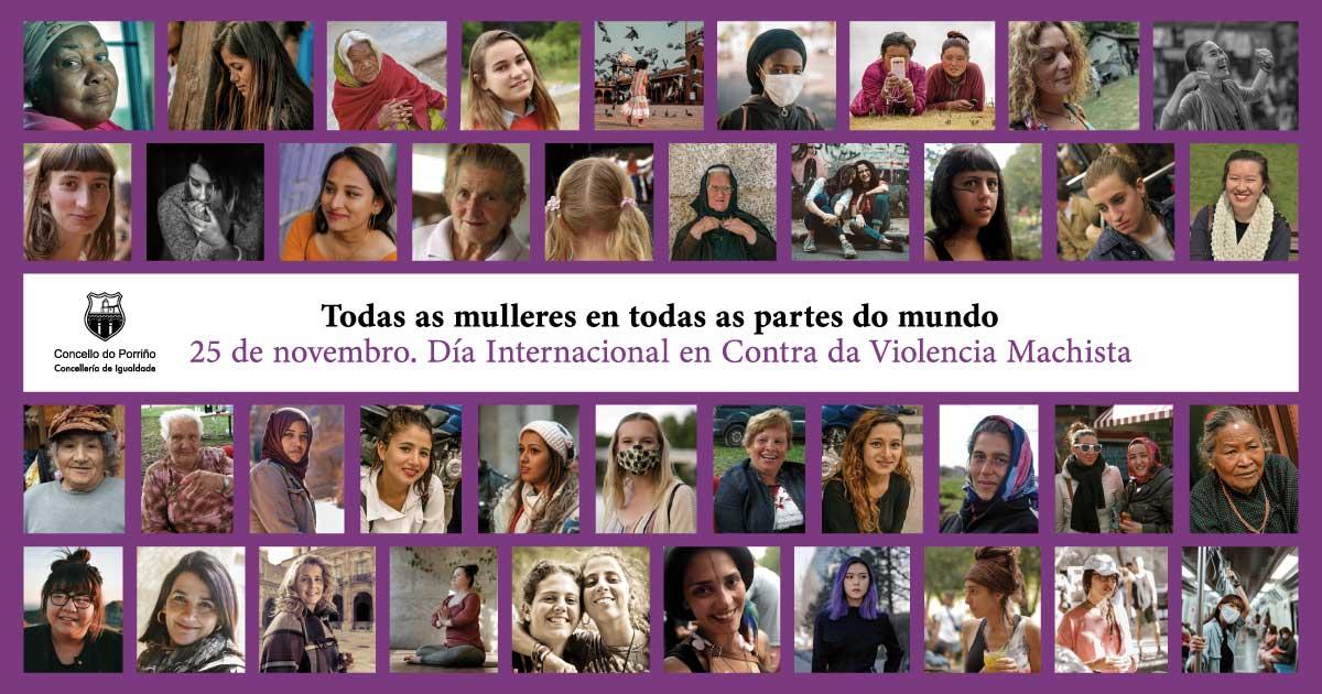 Toda a corporación municipal do Porriño, de forma conxunta, participou na elaboración deste manifesto do 25 de novembro, Día Internacional contra a violencia machista