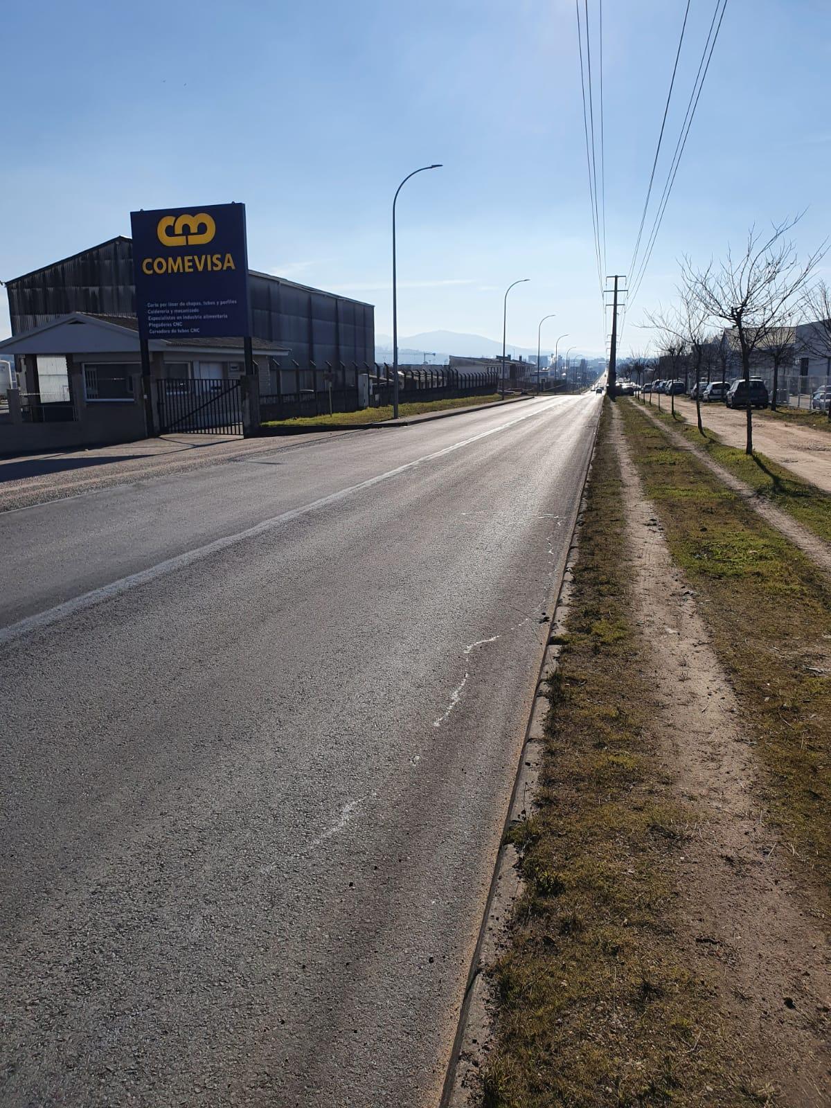 Reparado un tramo da estrada principal do Polígono das Gándaras