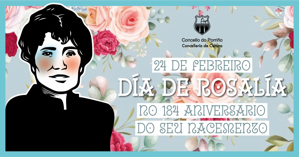 24 de febreiro, Día de Rosalía. O Concello adicará un video mapping á escritora referente absoluta da cultura galega