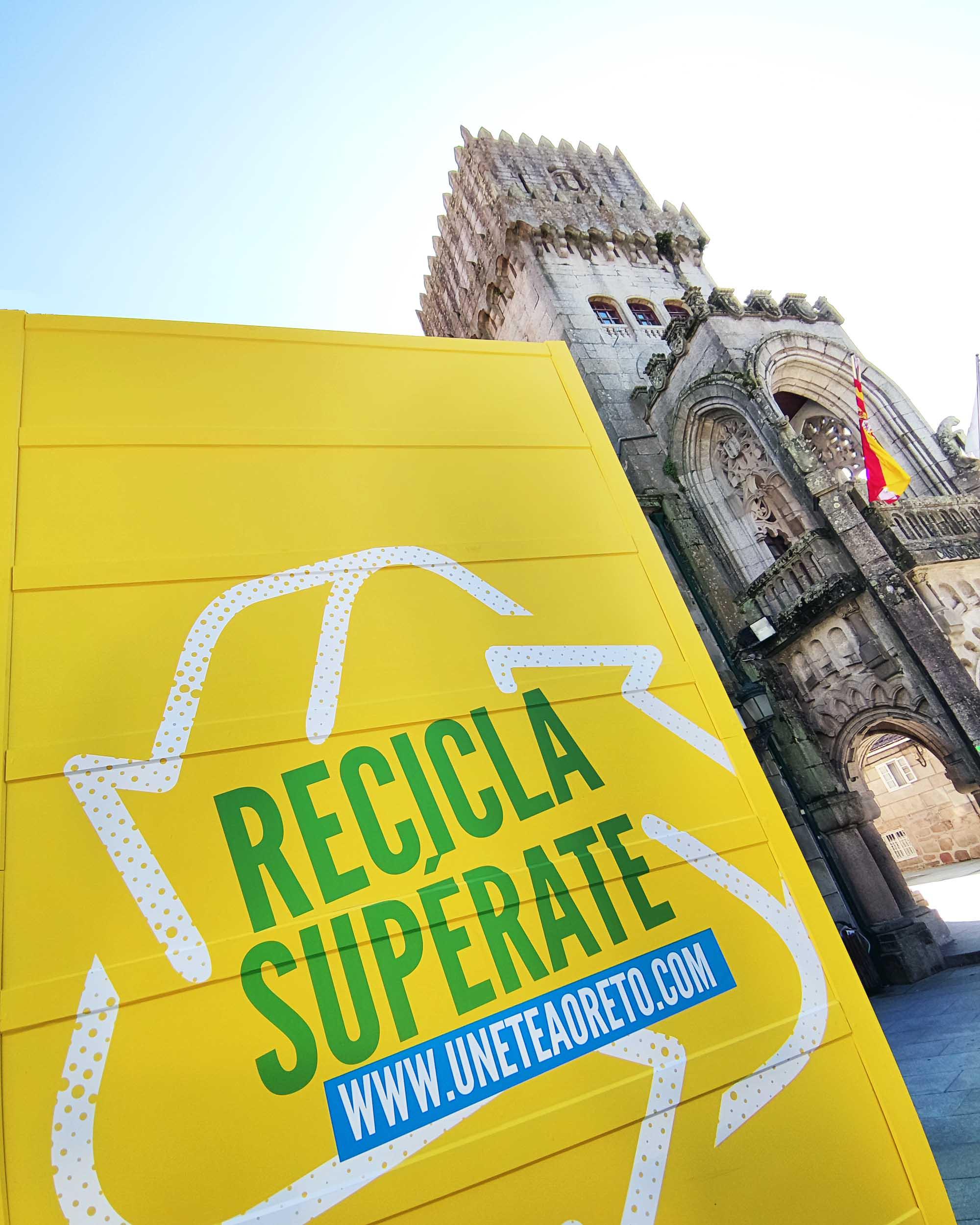 """O Concello galardoado pola Xunta e """"Ecoembes"""" pola súa achega á campaña """"Recicla e únete ao reto"""""""