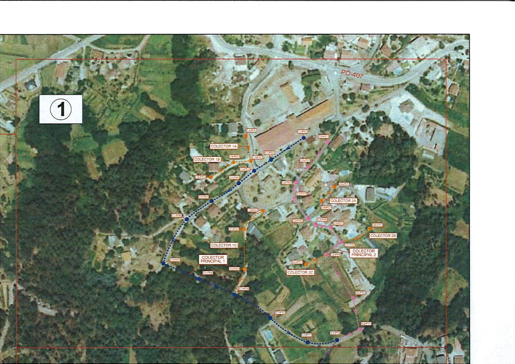O Concello licita o proxecto de saneamento no núcleo rural do Picouzo (Budiño)